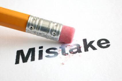 What did you learn from your Mistakes?